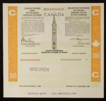 Illustration d'un certificat d'OEC émis en 1977.