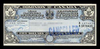 Illustration d'un certificat d'épargne de guerre.
